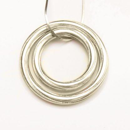 Silver double pendant