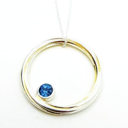 Silver and Gilt Topaz Pendant