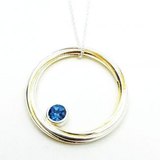 Silver and london blue topaz necklace