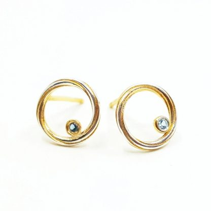 Silver and Topaz Earrings