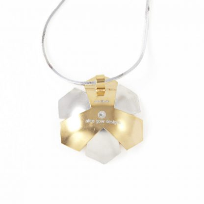 Silver and gold flower necklace