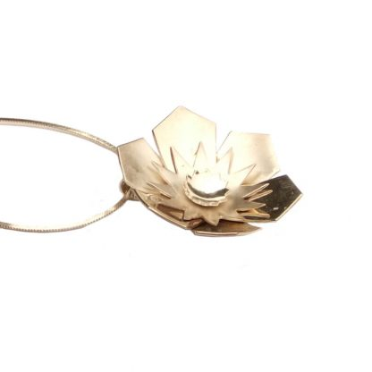 Silver and flower necklace