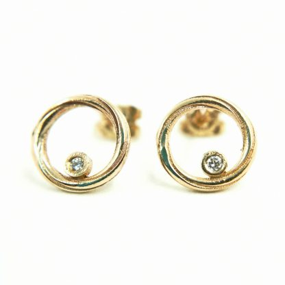 diamond and gold earrings