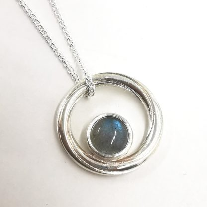 silver and labradorite pendant