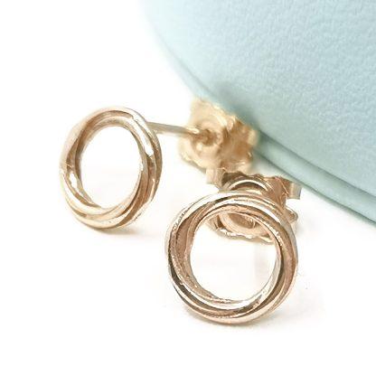 9kt gold earrings