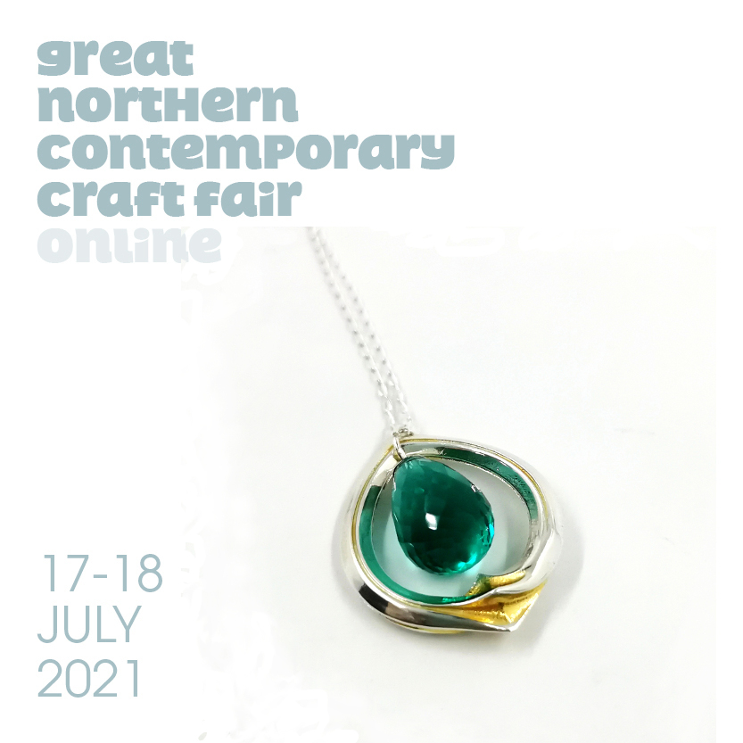 Silver and Chrysoprase Pendant, buy now at www.greatnorthernevents.co.uk#GNCCFonline#GNCCF#CraftSaysSomething contemporary craft fair, online craft fair