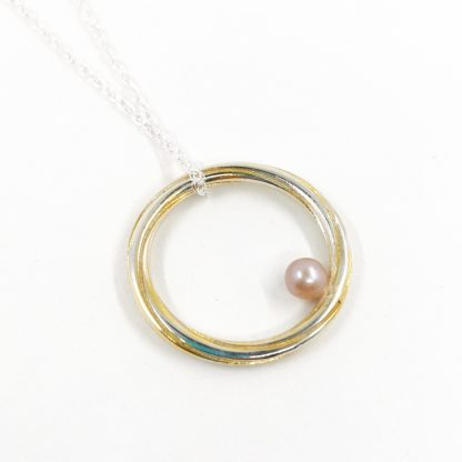 Silver and Pink Pearl Pendant