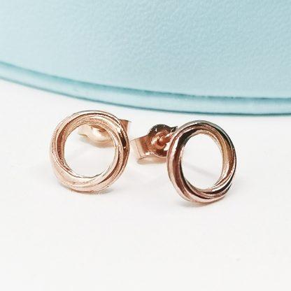 9kt rose gold earrings